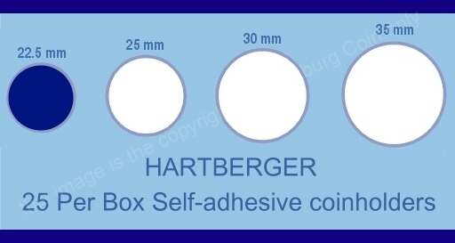 Hartberger coin holder sizes chart 22.5mm a