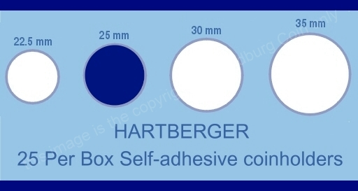 Hartberger coin holder sizes chart 25mm a