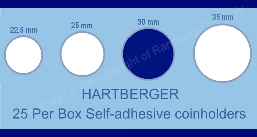 Hartberger coin holder sizes chart 30mm a