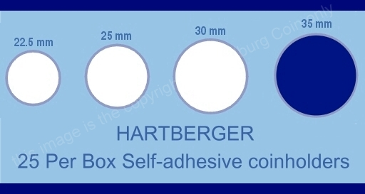 Hartberger coin holder sizes chart 35mm a