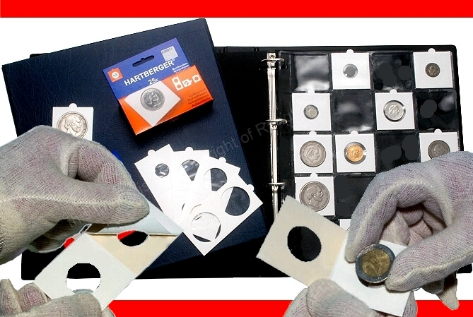 Hartberger self adhesive coin holders Composite a