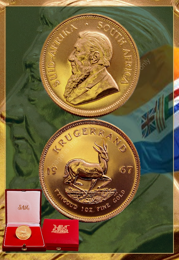 1967 Gold 1oz Proof Krugerrand In Sam Box Krugerrands