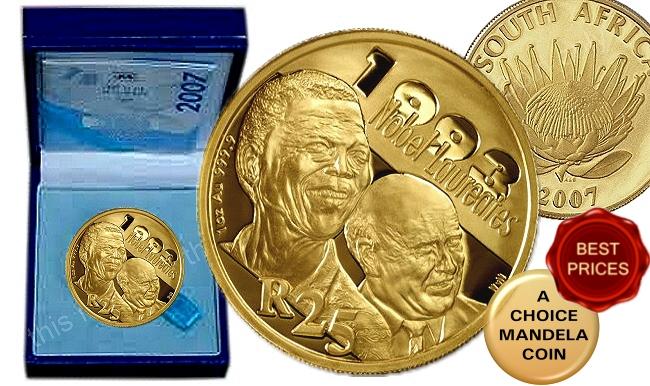 Mandela Day Promo 1994 To 2007 Mandela Sets And Coins 2016