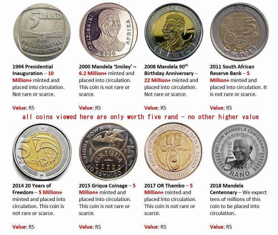 Five Rand Coins Only Worth Five Rand