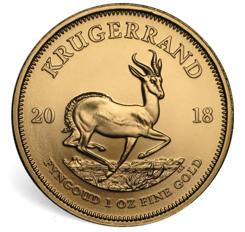2018 1 oz Krugerrand Bullion rev