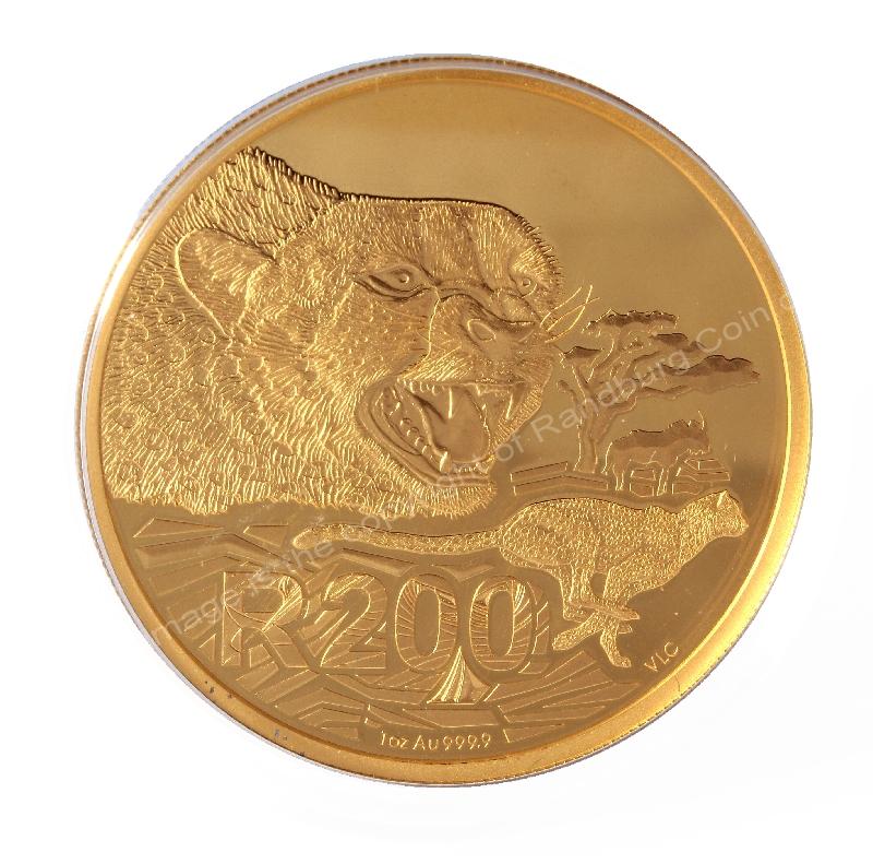 2016 Gold 1oz R200 Big Cats Initiative Cheetah 4 coin Nat Geo Set rev