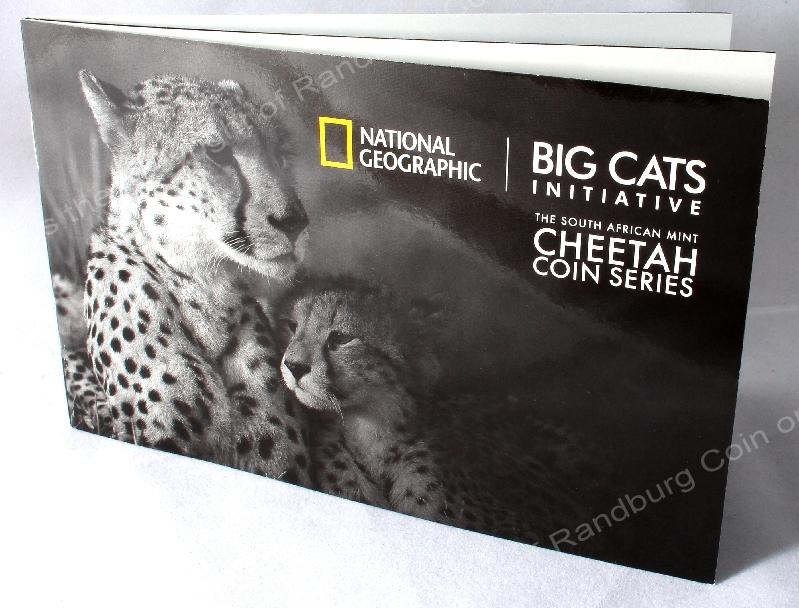 2016 Gold Big Cats Initiative Cheetah 4 coin Nat Geo Set booklet