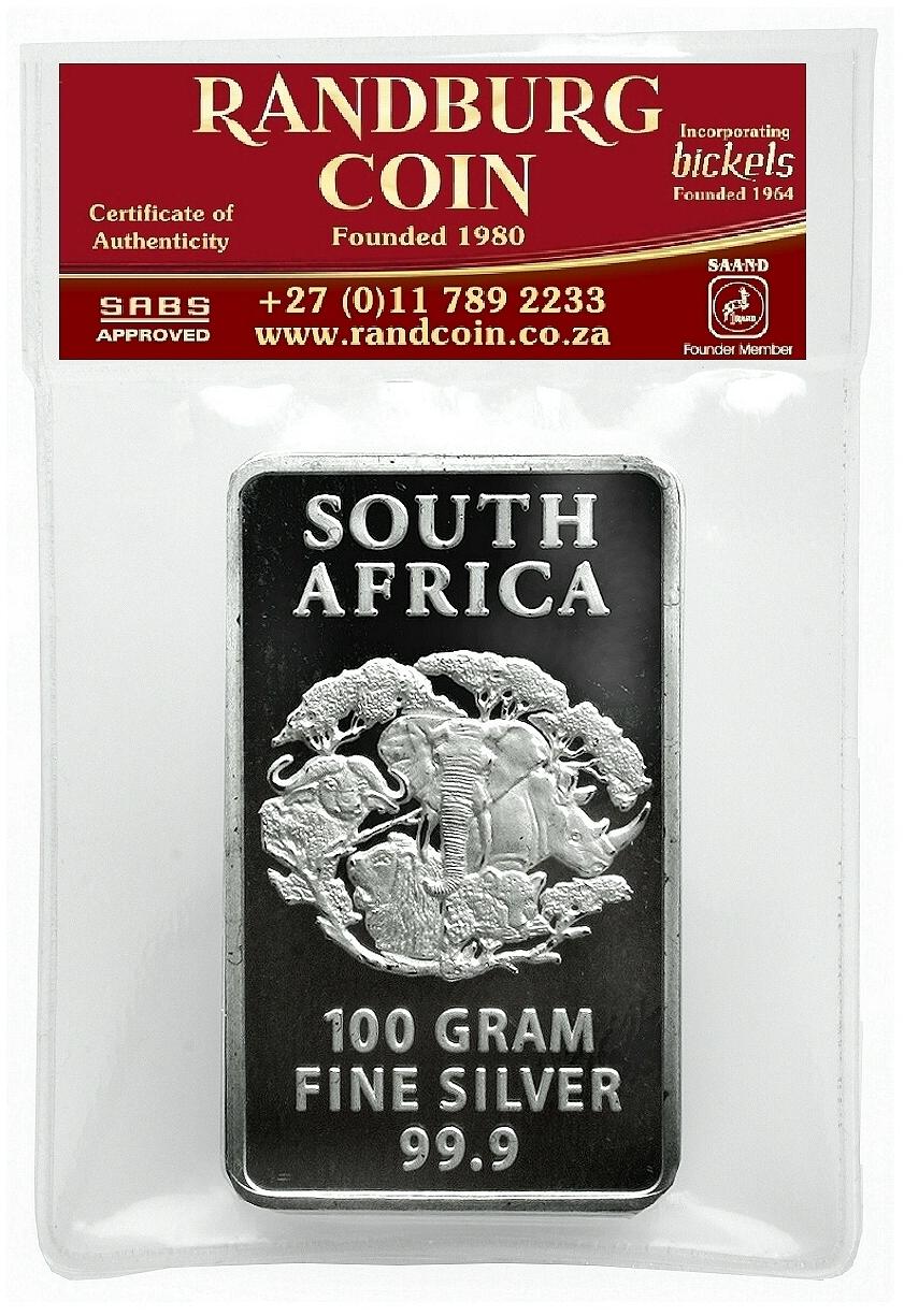 2015 Randburg Coin 100gram Fine Silver Product