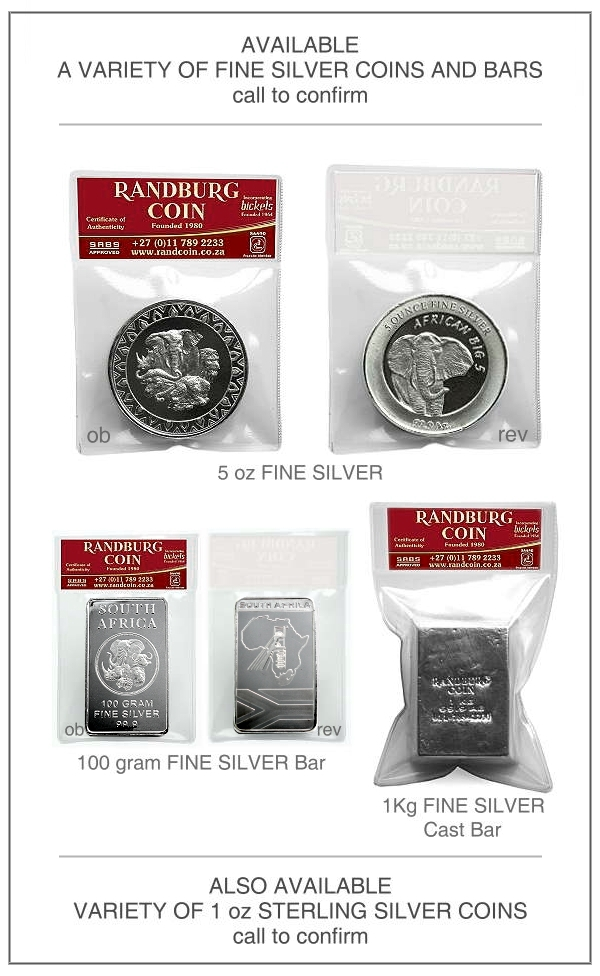 2015 Randburg Coin Fine Silver and other Products aa