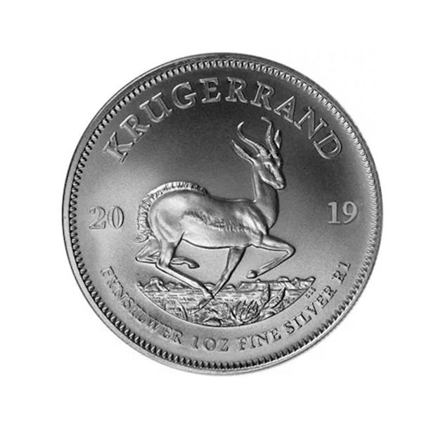 2019 1oz Silver Bullion Krugerrand rev