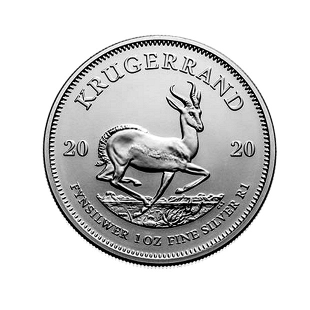 2020 1oz Silver Bullion Krugerrand rev