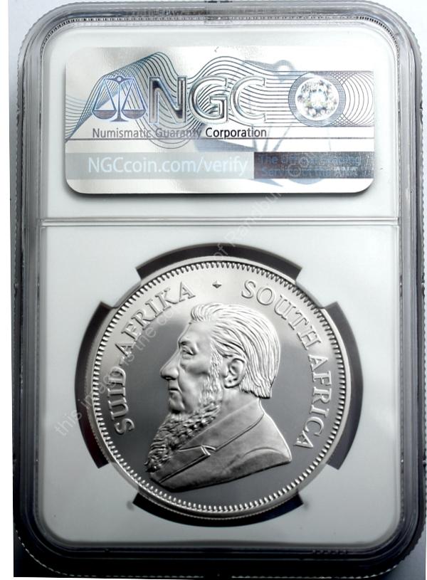 2017 Fine Silver Proof 1 oz PF69 Krugerrand 50th Anniversary ob