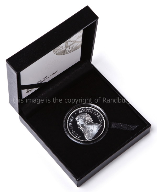 2019 Silver Proof Krugerrand box open