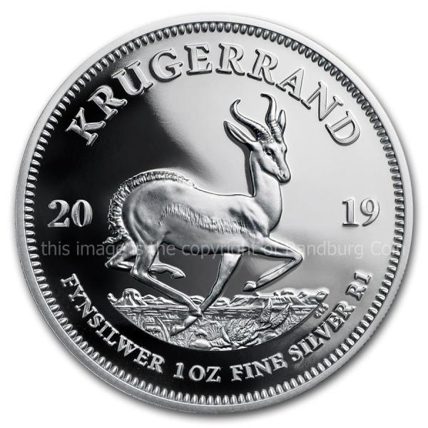2019 Silver Proof Krugerrand rev