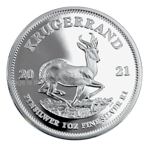 2021 1oz Fine Silver Proof Krugerrand Coin ob
