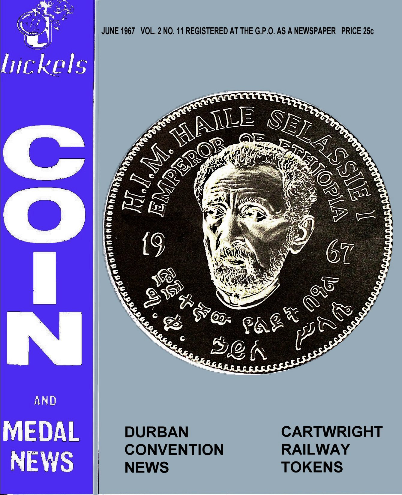 Bickels Coin & Medal News June 1967 Vol 2 No 11