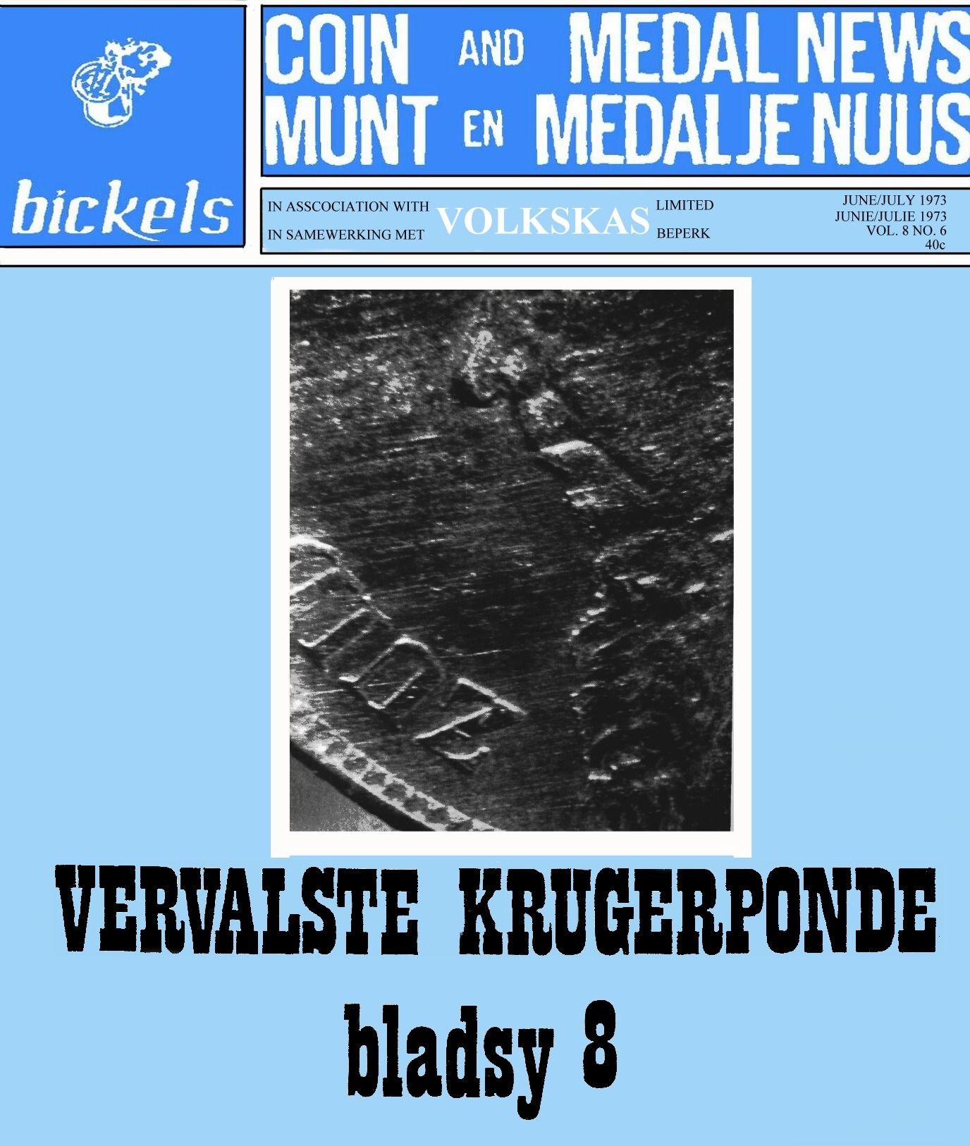 Bickels Coin & Medal News June July Vol 8 No 6