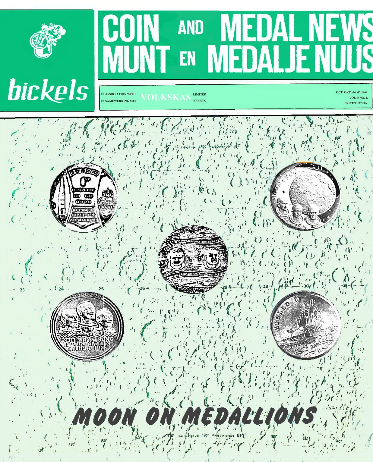 Bickels Coin & Medal News October November 1969 Vol 5 No 2