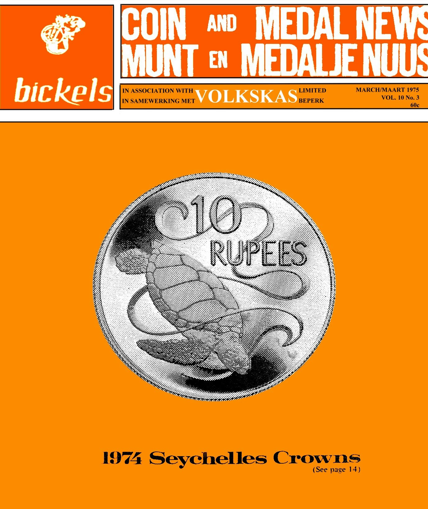 Bickels Coin & Medal News March 1975 Vol 10 No 3