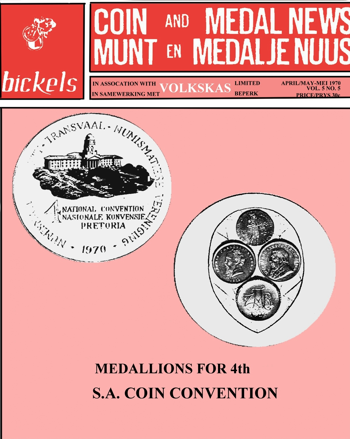 Bickels Coin & Medal April May 1970 Vol 5 No 5