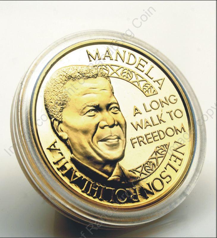 Mint Of Norway Gold Proof 1oz Medallion Mandela De Klerk