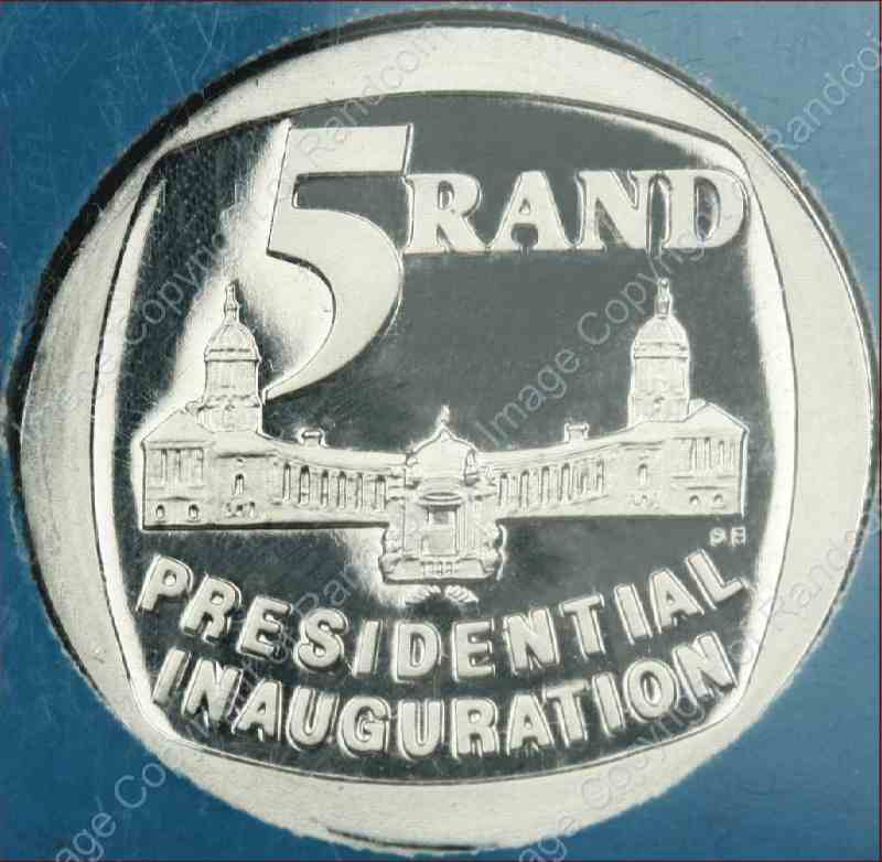 1994_Presidential_Inauguration_in_Perspex_coin_rev