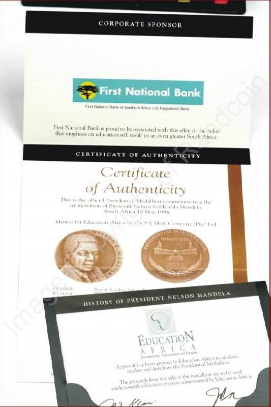 Mandela_FNB_Medallion_Certificate
