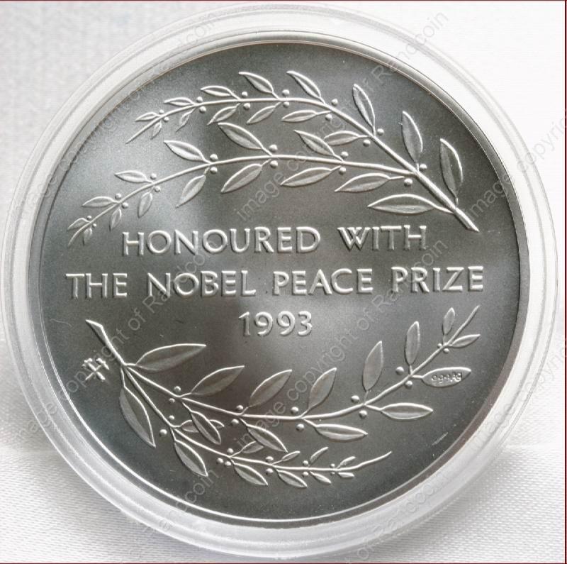 Mint Of Norway Silver Proof 1oz Mandela Nobel Peace