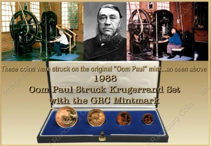 1988_Oom_Paul_Struck_Krugerrand_GRC_Mintmark_Set