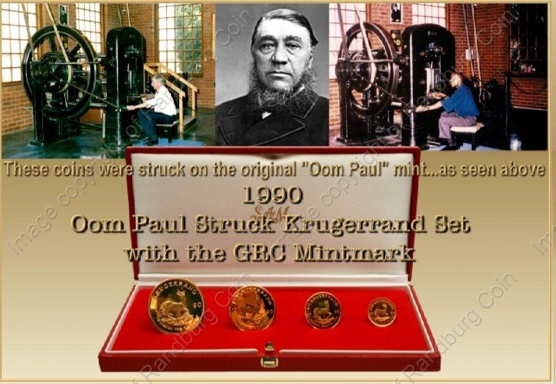 1990_Oom_Paul_Struck_Krugerrand_GRC_Mintmark_Set