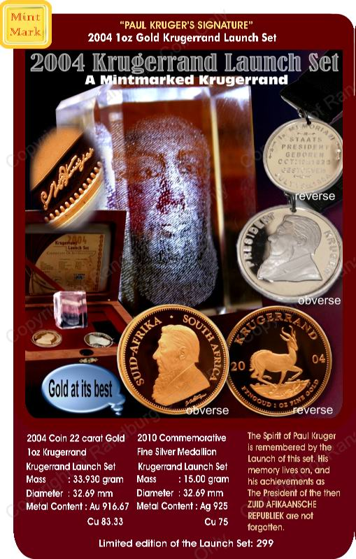 2004_Krugerrand_Launch_Mintmarked_Set_with_crystal_Kruger_portrait_Coin_ob_and_rev