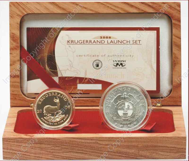 2006_Krugerrand_Launch_Set_1oz_with_Replica_5_Shilling_rev