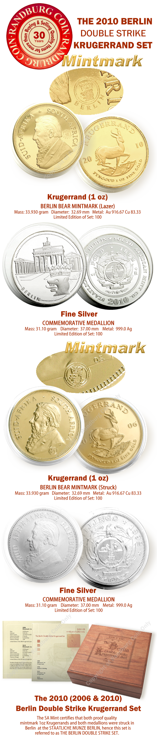 2010_Proof_1_oz_Krugerrands_plus_Silver_Medallions_Berlin_Double_Strike_Set_mintmark_coins