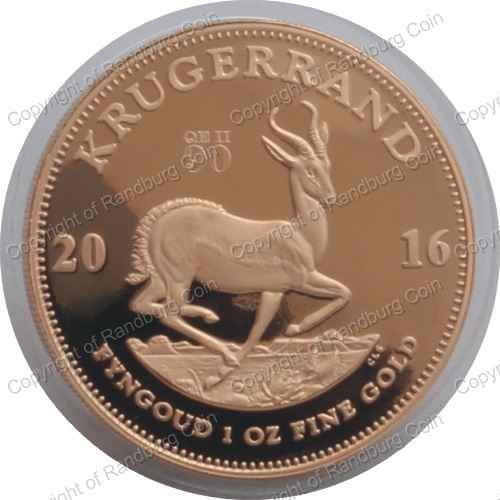Gold Proof Krugerrand Queen Elizabeth 2nd 90th Birthday