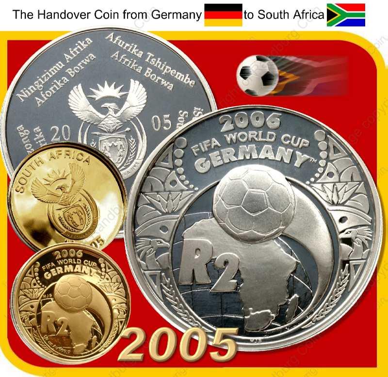 2005_FIFA_Gold_Proof_Quarter_oz_and_Silver_1oz_Collector_Handover_Set_ob_and_rev
