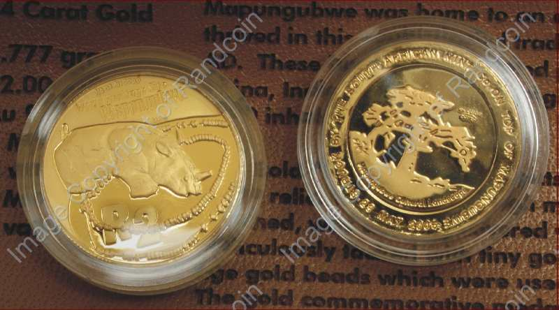 Gold Proof Heritage R2 1 4oz Launch Mapungubwe With