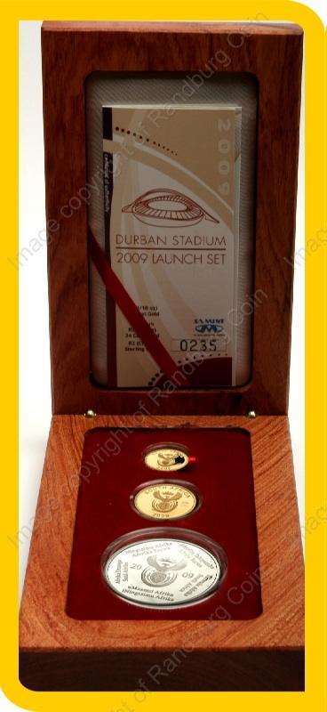 2009_FIFA_Gold_Proof_Quarter_and_10th_oz_and_Silver_1oz_Collectors_Set_open_box_ob