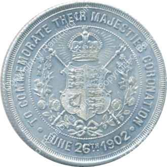 Great Britain 1902 Coronation of King Edward vii copper zinc medallion rev