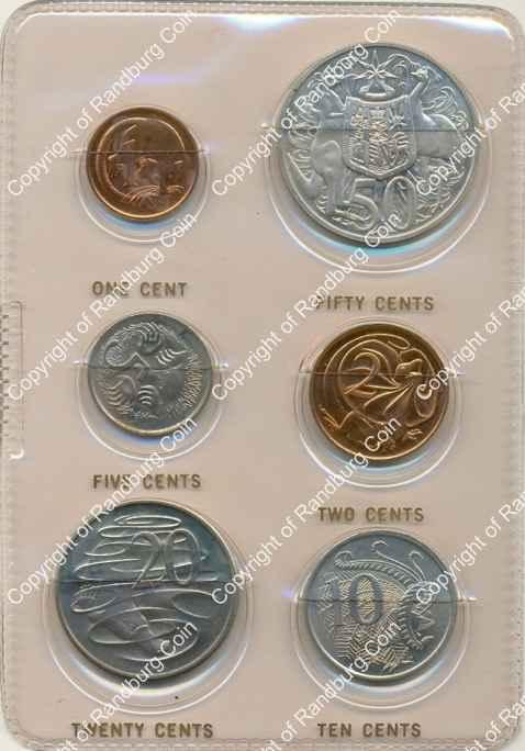 Australia 1966 Decimal Coins Mint Pack
