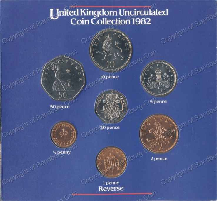*#* Great Britain 1982 Uncirculated Coin Set *#*